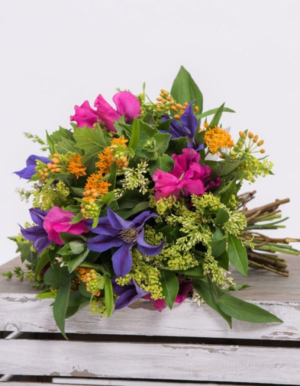 bright colored flower bouquet